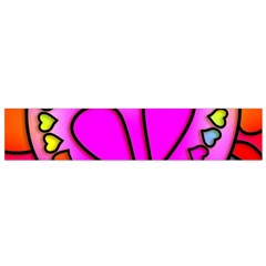 Colorful Modern Love Flano Scarf (Small)
