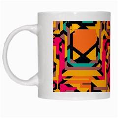 Colorful shapes White Mug