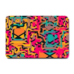 Colorful shapes Small Doormat