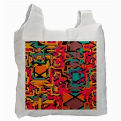 Colorful shapes Recycle Bag (Two Side)