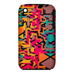 Colorful shapes Apple iPhone 3G/3GS Hardshell Case (PC+Silicone)