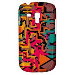 Colorful shapes Samsung Galaxy S3 MINI I8190 Hardshell Case