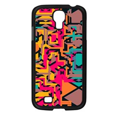 Colorful shapes Samsung Galaxy S4 I9500/ I9505 Case (Black)