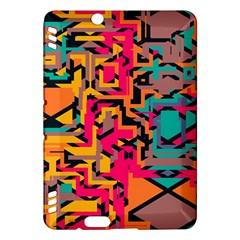 Colorful shapesKindle Fire HDX Hardshell Case