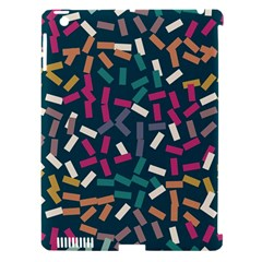 Floating rectangles Apple iPad 3/4 Hardshell Case (Compatible with Smart Cover)