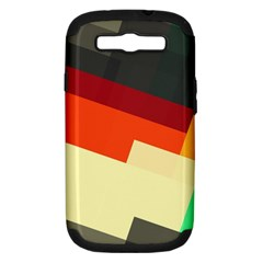 Miscellaneous retro shapes Samsung Galaxy S III Hardshell Case (PC+Silicone)