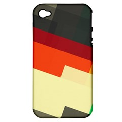 Miscellaneous retro shapes Apple iPhone 4/4S Hardshell Case (PC+Silicone)