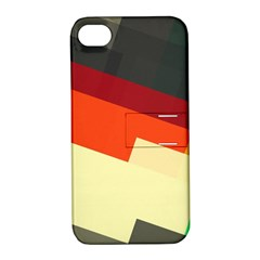 Miscellaneous retro shapes Apple iPhone 4/4S Hardshell Case with Stand