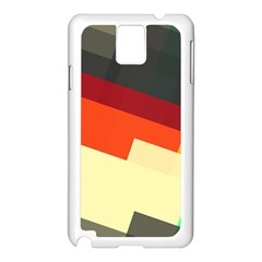 Miscellaneous retro shapes Samsung Galaxy Note 3 N9005 Case (White)