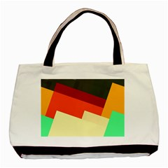 Miscellaneous Retro Shapes Basic Tote Bag