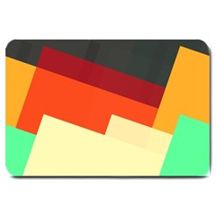 Miscellaneous retro shapes Large Doormat