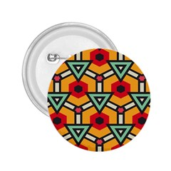 Triangles and hexagons pattern 2.25  Button
