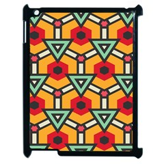 Triangles and hexagons pattern Apple iPad 2 Case (Black)