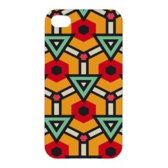 Triangles and hexagons pattern Apple iPhone 4/4S Hardshell Case