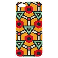 Triangles and hexagons pattern Apple iPhone 5 Hardshell Case