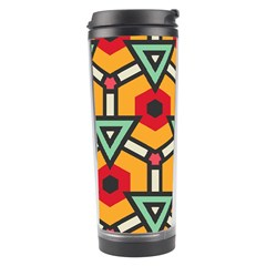 Triangles and hexagons pattern Travel Tumbler