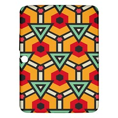 Triangles and hexagons pattern Samsung Galaxy Tab 3 (10.1 ) P5200 Hardshell Case
