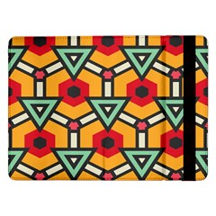 Triangles And Hexagons Patternsamsung Galaxy Tab Pro 12 2  Flip Case