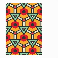 Triangles and hexagons pattern Small Garden Flag