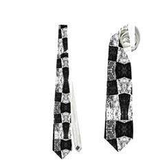 Black And White Geometric Tribal Pattern Neckties (one Side)