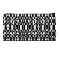 Black and White Geometric Tribal Pattern Pencil Cases