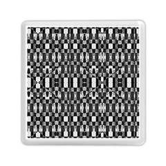 Black and White Geometric Tribal Pattern Memory Card Reader (Square)