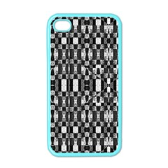 Black and White Geometric Tribal Pattern Apple iPhone 4 Case (Color)