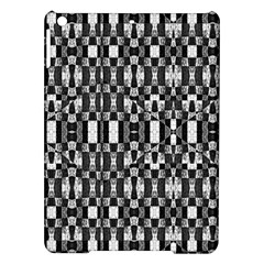 Black and White Geometric Tribal Pattern iPad Air Hardshell Cases