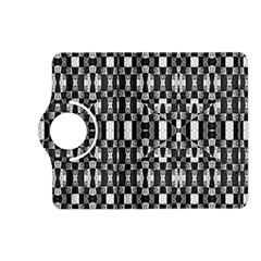 Black And White Geometric Tribal Pattern Kindle Fire Hd (2013) Flip 360 Case