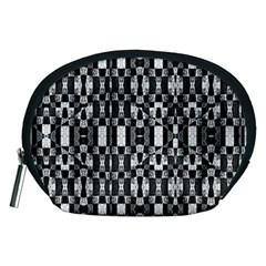 Black and White Geometric Tribal Pattern Accessory Pouches (Medium)