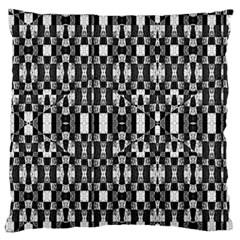 Black And White Geometric Tribal Pattern Large Flano Cushion Cases (one Side)