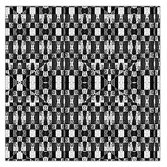 Black And White Geometric Tribal Pattern Large Satin Scarf (square)