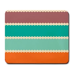 Rhombus and retro colors stripes pattern Large Mousepad