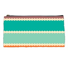 Rhombus and retro colors stripes pattern Pencil Case
