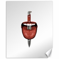 Tongue Cut By Kitchen Knife Photo Collage Canvas 16  x 20