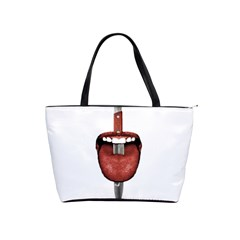 Tongue Cut By Kitchen Knife Photo Collage Shoulder Handbags