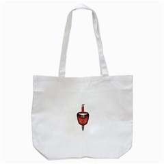 Tongue Cut By Kitchen Knife Photo Collage Tote Bag (white)