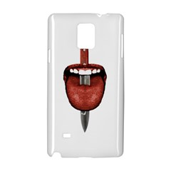 Tongue Cut By Kitchen Knife Photo Collage Samsung Galaxy Note 4 Hardshell Case