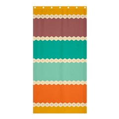 Rhombus and retro colors stripes pattern	Shower Curtain 36  x 72