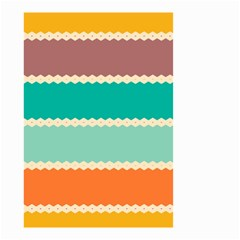 Rhombus And Retro Colors Stripes Pattern Small Garden Flag