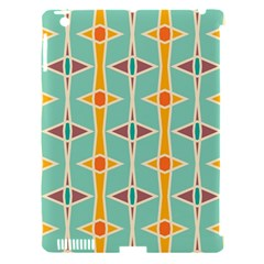 Rhombus pattern in retro colors Apple iPad 3/4 Hardshell Case (Compatible with Smart Cover)