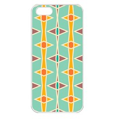 Rhombus pattern in retro colors Apple iPhone 5 Seamless Case (White)
