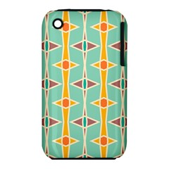 Rhombus pattern in retro colors Apple iPhone 3G/3GS Hardshell Case (PC+Silicone)