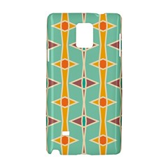 Rhombus Pattern In Retro Colors 			samsung Galaxy Note 4 Hardshell Case