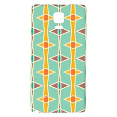 Rhombus pattern in retro colors Samsung Note 4 Hardshell Back Case