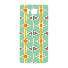 Rhombus Pattern In Retro Colors 			samsung Galaxy Alpha Hardshell Back Case