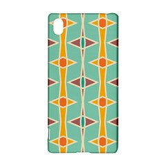 Rhombus Pattern In Retro Colors 			sony Xperia Z3+ Hardshell Case