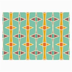 Rhombus Pattern In Retro Colors large Glasses Cloth