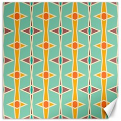 Rhombus pattern in retro colors 			Canvas 20  x 20
