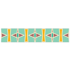 Rhombus Pattern In Retro Colors  Flano Scarf